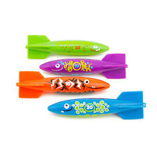 4 PC Pool Water Rocket Torpedo Swimming Toy Dive Sticks Game