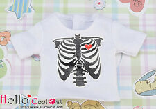 ☆╮Cool Cat╭☆【PR-09】Blythe Pullip Doll Printing Tee(X Ray)# White
