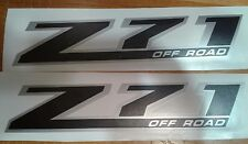 Z71 off road decals black Matt sticker SILVERADO CHEVROLET TRUCK (set)