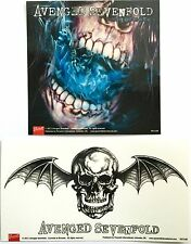 AVENGED SEVENFOLD Set of 2 A7X  VINYL STICKERS OFFICIAL BAND MERCHANDISE