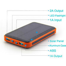 300000mah Solar Power Bank  Dual USB Portable External Battery Charger Phone UKN