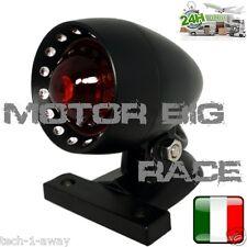 FANALE STOP MOTO VETRO ROSSO SUPPORTO NERO per Scrambler Special Custom M197