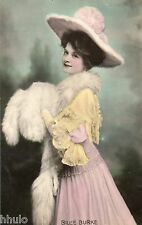 BE279 Carte Photo vintage card RPPC Femme woman Billie Burke mode fashion hat