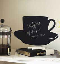 WALLIES CUP & SAUCER CHALKBOARD wall sticker BIG decal with chalk coffee decor