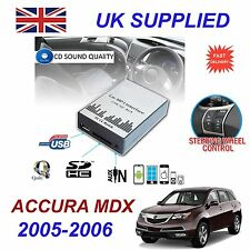 ACURA MDX 05-06 MP3 SD USB CD AUX Input Audio Adapter Digital CD Changer Module