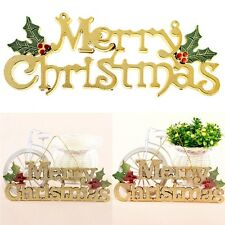 Cool Gold Merry Christmas Hanging Ornaments Festival Party Tree Home Decoration