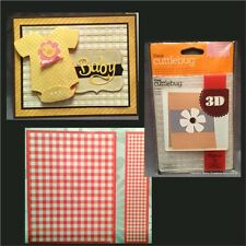 CUTTLEBUG Embossing Folders GINGHAM 3D baby embossing folder set