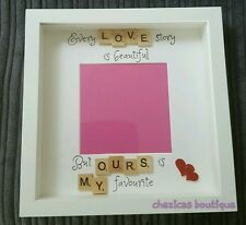 Every love story is beautiful but ours is my favourite Scrabble photo Frame