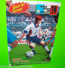 WORLD CUP '98 By TECMO 1998 VIDEO ARCADE GAME MACHINE MAGAZINE AD NOT A FLYER