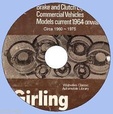 Información de Embrague de Freno Girling comercial alrededor de 1959 ~ 1976 DVD ROM