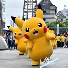 Halloween Adult Pokemon Go Pikachu mascot Costume cosplay fancy dress fast ship