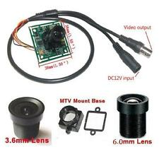 "Sunvision 420TVL 1/4"" Sharp CCTV Board Camera + 3.6 & 6.0mm M12 Lenses (BP42B)"