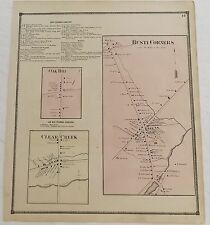 "1867 Chautauqua County NY ""Busti Corners Oak Hill Clear Creek"" Antique Atlas Map"
