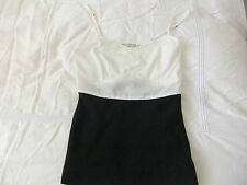ALL SAINTS BLOCKED CAMI TOP. CREAM/BLACK UK10 jeans/skirt/trousers/shorts/shoes/