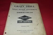 Ford Tractor 12-39 12-40 12-41 Grain Drill Parts Book Manual CHPA