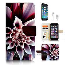 iPhone 7 PLUS (5.5') Flip Wallet Case Cover P3116 Flower