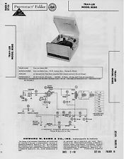 1960 TRAV-LER 8080 RECORD PLAYER CHANGER PHONOGRAPH SERVICE MANUAL PHOTOFACT FIX