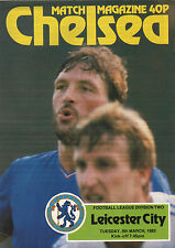 1981/82 Chelsea v Leicester City, Division 2, PERFECT CONDITION