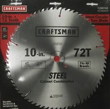 """Craftsman 26816A 10"""" x 72 Tooth Saw Blade Heat-Treated Steel"""