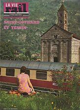 la vie du rail N°1241 du 26 avril 1970 saint gothard tessin