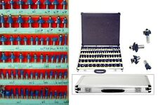 """160pc 1/4"""" and 1/2"""" Shank Router Bit Set w/ Cases 3 Blade Tungsten Carbide NEW"""