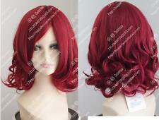 Cos red  short curly cosplay  Heat-resistant wig  +free wig wig