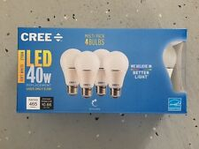 CREE 4-Pack LED A19 Light Bulbs 40W Dimmable Soft White 2700K FREE SHIP!