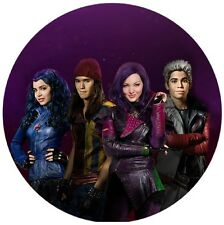 Descendants Round Edible Party Cake Image Topper Frosting Icing Sheet