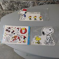 Lot xVintage 3x STICKERS STICKERS  SNOOPY LINUS PEANUTS ANNI 80