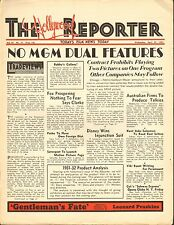 APRIL 29 1931 THE HOLLYWOOD REPORTER movie magazine - NO MGM DUAL FEATURES