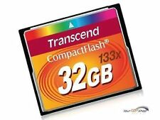 Transcend 32 GB CompactFlash CF 32GB HighSpeed 133x NEU TS32GCF133 Schutzbox