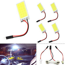 5 x White COB 18-LED Plate Car Interior Dome Light Bulb T10 Festoon 12V Lights
