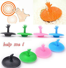 Hot SaleWashroom Hand Shape Sink Plug Water Rubber Sink Bathtub Stopper TSUK