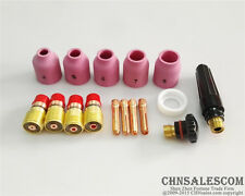 16 pcs TIG Welding Torch Stubby Gas Lens Kit for Tig WP-17/18/26 Series