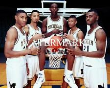 FAB FIVE CHRIS WEBBER - JALEN ROSE Michigan Wolverines Glossy 8 x 10 Photo