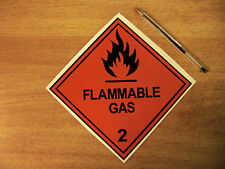 "150mm ""Flammable Gas""  decal sticker 