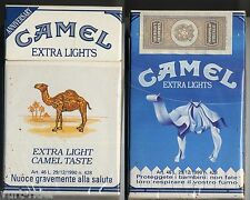 CAMEL EXTRA LIGHTS cigarette Italy empty pack ANNIVERSARY 1993 #9 Proteggete ...