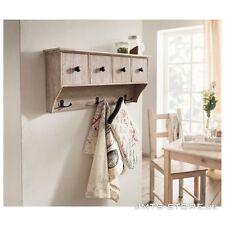 Holz Garderobe Wandregal Hängeregal Regal Küche Landhaus Shabby Schublade Flur