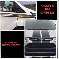 FORD TRANSIT CUSTOM M SPORT BONNET AND SIDE STRIPE KIT DECALS STICKERS GRAPHICS