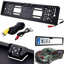EU European Car License Plate Frame Reverse Camera with 4 LED Light Night Vison