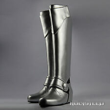 Fate Zero Fate Stay Night Saber Cosplay Silvery Armour Shoes Long Knee Boots