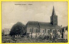 CPA Vue RARE FRIVILLE ESCARBOTIN (Somme) L'ÉGLISE Saint Hubert Cimetière Animés
