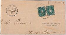 CATANZARO --- ITALIA REGNO:  storia postale - BUSTA / LETTERA : Curinga 1891