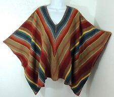 798 Ralph Lauren Cashmere Wool Alpaca Indian Striped Sweater Equestrian Poncho L
