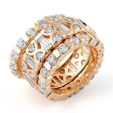 6.30 Ct Round Diamond Eternity Wedding VS1 Anniversary Band Ring 14k Gold Rose