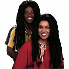 Mens Black Braided Hippie Braid Wig Costume Adult Womens Hair Accessory