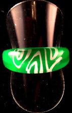 Funky Acrílico neón Nye Cumpleaños Gallina Fiesta Chilly Anillo S: 9-R verde y blanco