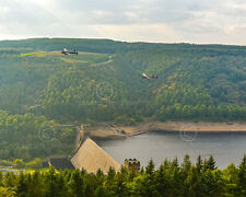 Photographic print 10 x 8 Both airworthy Lancaster Bombers over Derwent Dam 2014