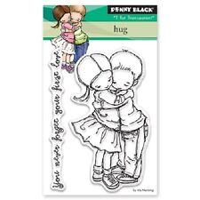 PENNY BLACK RUBBER STAMPS CLEAR HUG NEW STAMP