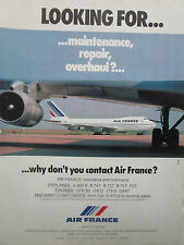 2/1981 PUB AIR FRANCE AIRLINE BOEING 747 AIRLINER MAINTENANCE REPAIR OVERHAUL AD